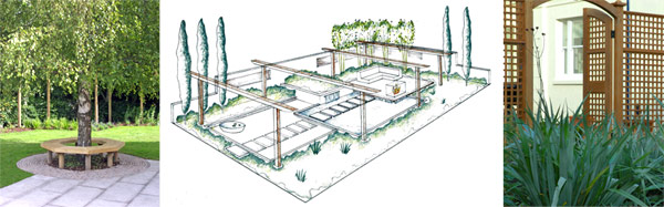 Garden design for terraced coastal garden