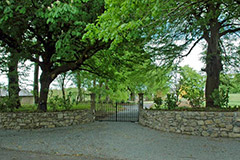 This garden restoration in Ireland included a new entrance with granite walls.